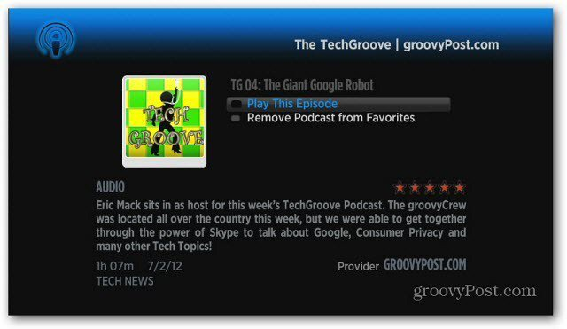 TechGroove on Roku