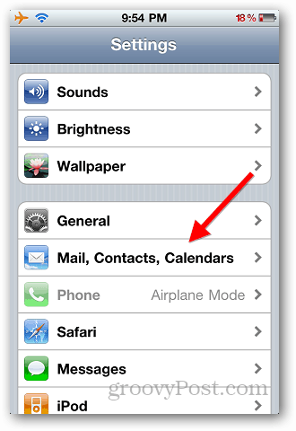 Transfer Contacts iPhone 1
