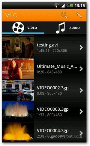 VLC for Android Beta: The Screenshot Tour