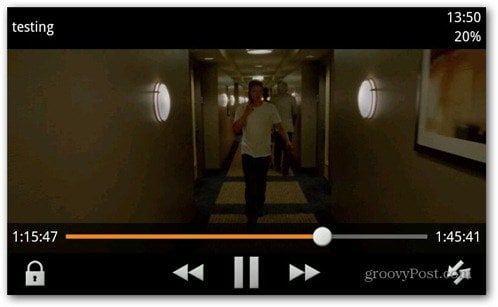 VLC Android beta movie playing