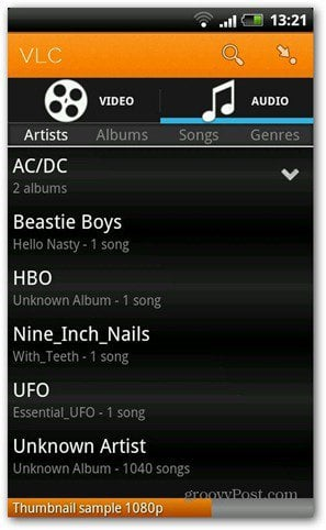 VLC Android beta music player