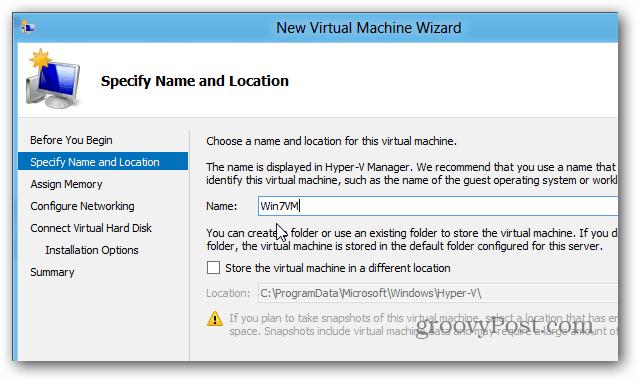 Win7 VM Name