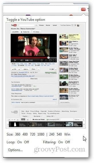 YouTube Options 4