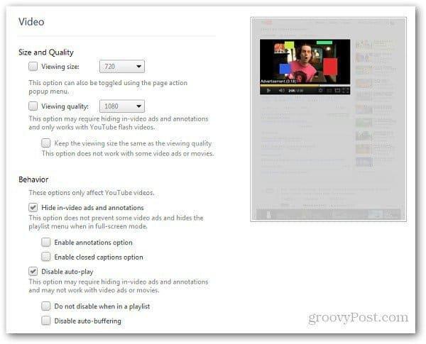 YouTube Options 5