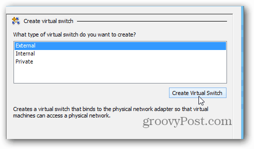 creating virtual switch