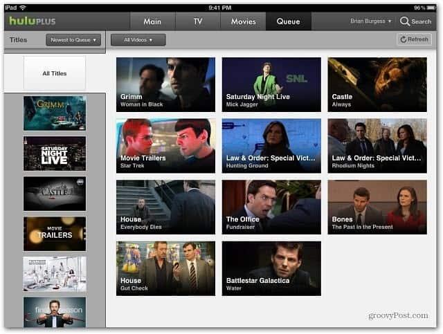 iPad Hulu Plus App