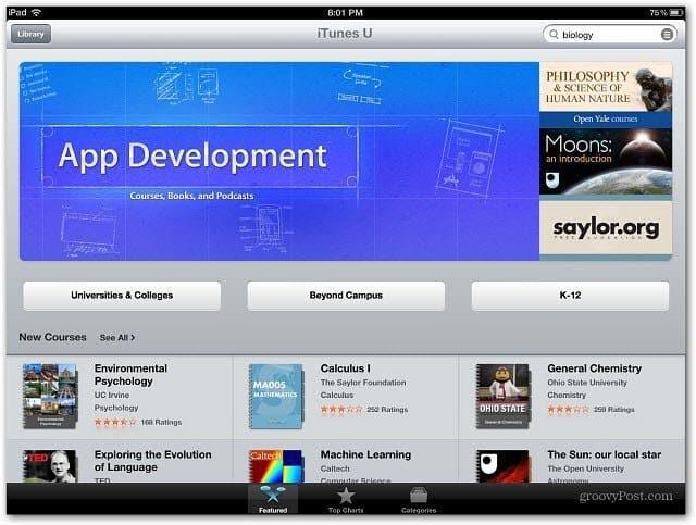 iTunes U Courses