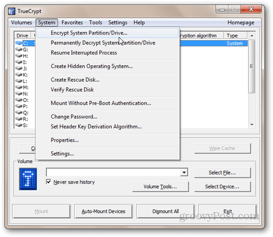 TrueCrypt - Encrypt System Partition/Drive