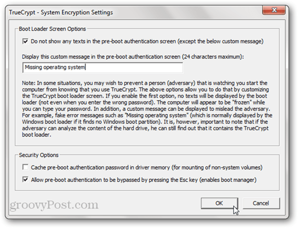 Faking a broken computer with TrueCrypt Encryption