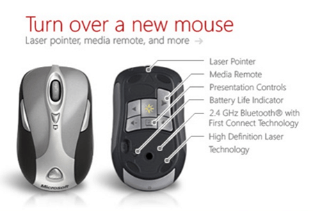microsoft mouse presenters laser pointer presentation buttons control wireless