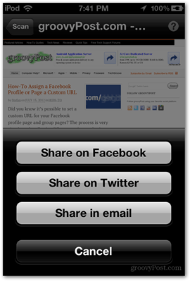 opened tag sharing options microsoft ios app