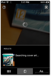 searching screen snapped scan bing cover ios microsoft vision