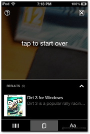 vision result dirt 3 windows cover tap to start over screen microsoft ios download bing scanner
