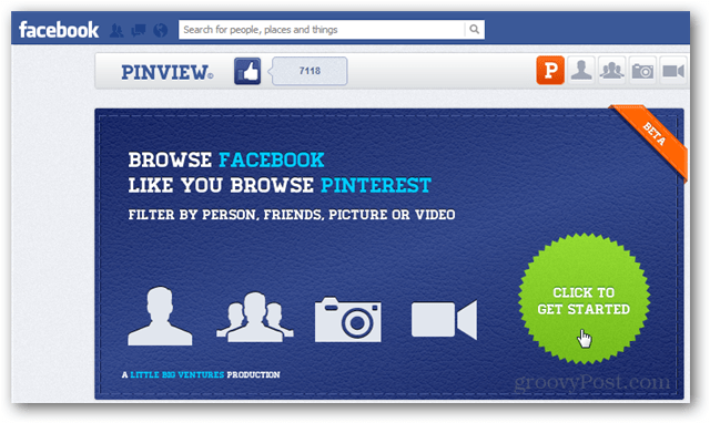 pinview facebook app page
