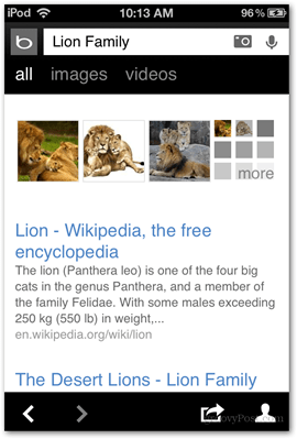 results voice search bing lion family pictures hd format features microsoft ios apps applications app bing
