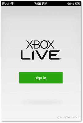xbox live microsoft ios splash screen loading app