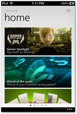 home screen xbox microsoft ios app apps applications news