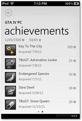 achievements gta iv xbox live screen compare microsoft ios app apps