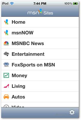 msn home sites mictosoft ios app apps free news