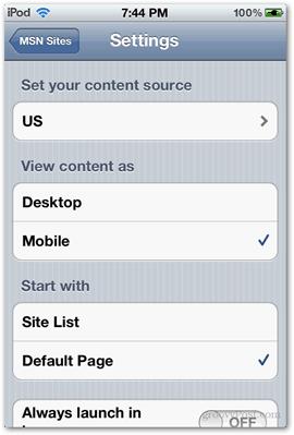 settings msn around the world microsoft app ios iphone ipod internet desktop mobile page url default page