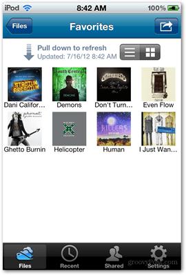 skydrive folder view microsoft ios app apps