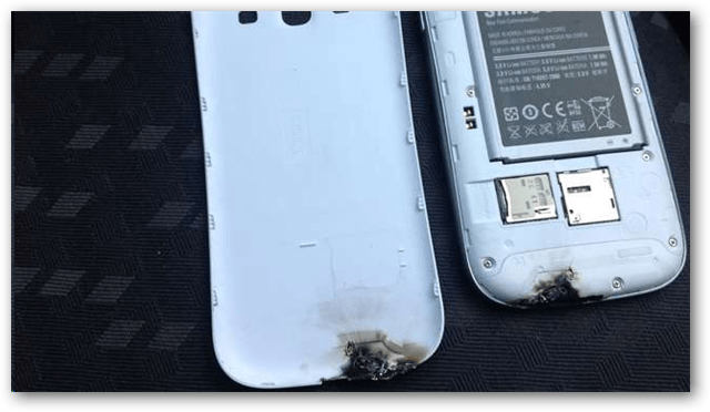 Burnt up Samsung Galaxy S II