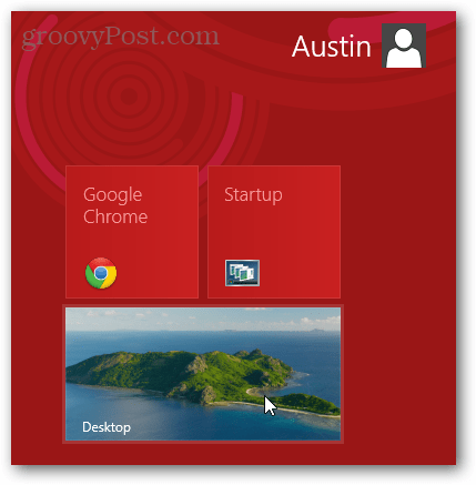desktop tile on metro start menu windows 8