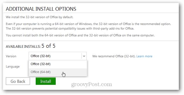64 bit install office 2013