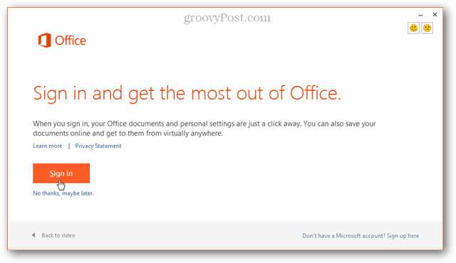 sign in and get the most out of office 2013