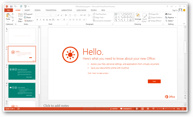 powerpoint 2013 screenshot