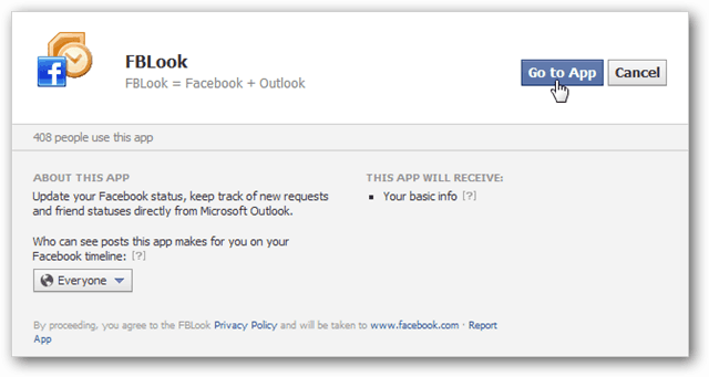 FBLook allow to app page