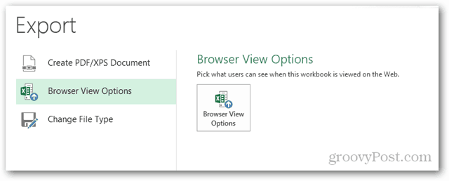 browser view options