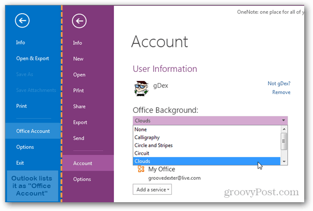 how to change the office 2013 background theme