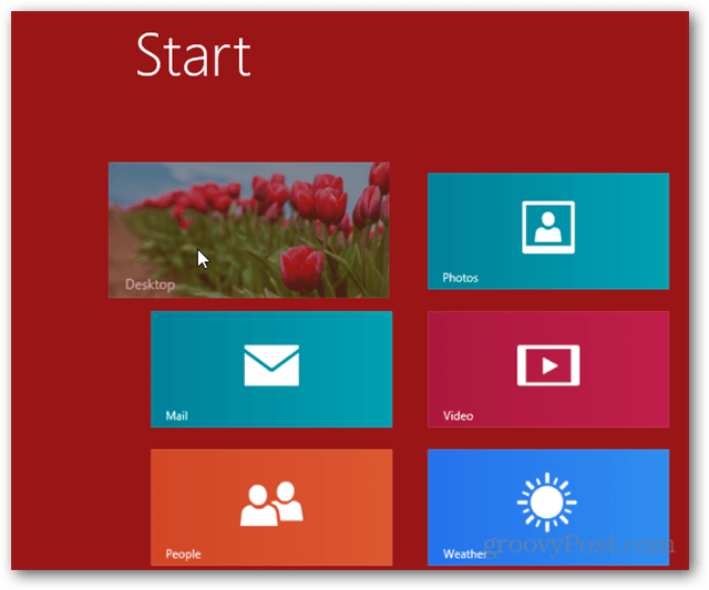 Windows 8 desktop tile in metro ui