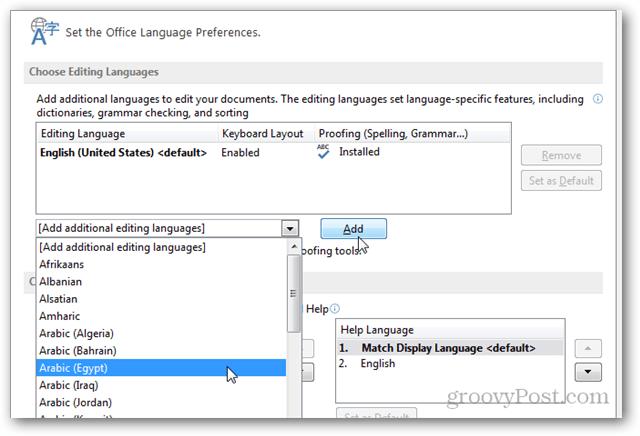 add an extra language