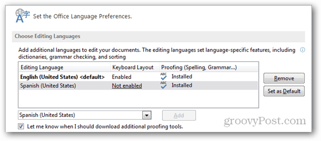 additional language added