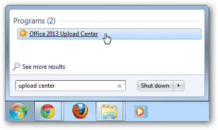launch the office 2013 upload center