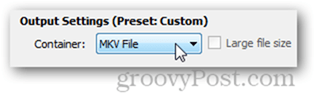 mkv format mp4 format select output quality results handbrake