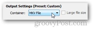 mkv format mp4 format select output quality results handbrake
