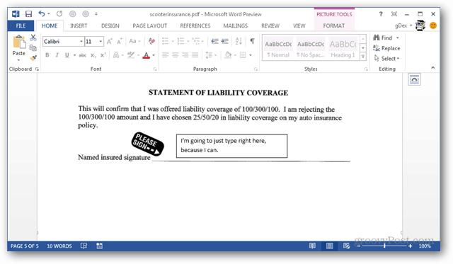 office 2013 pdf editor