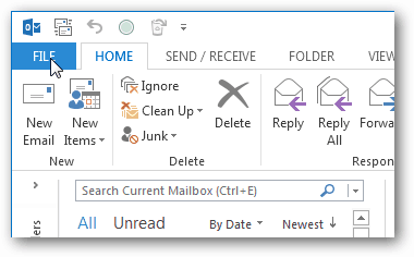 file menu in office 2013
