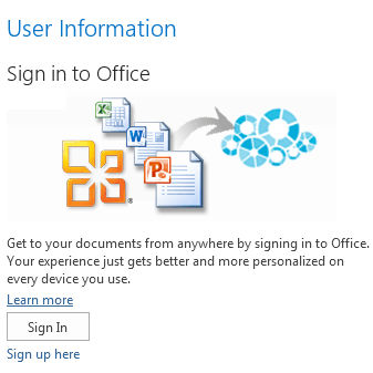 how to sign out and stop syncing office 2013