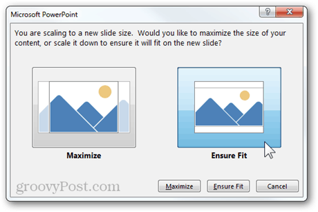 scaling new size aspect ratio powerpoint 2013 feature maximize ensure fit