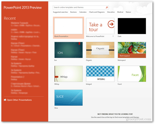 template screen home powerpoint 2013 instant download search topic