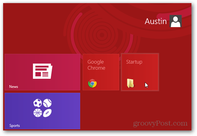 Windows 8 startup folder in metro