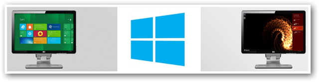 dual monitor setup windows 8 features metro desktop new