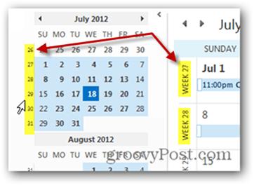 Outlook 2013 Add Week Numbers Calendar - All done!