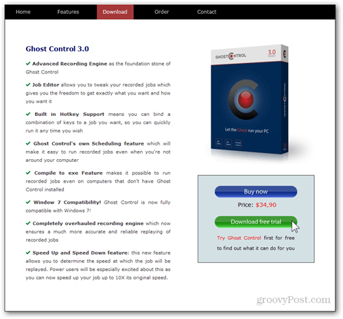 ghost control web page official download trial full buy download