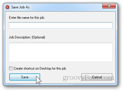 save as job title job description add shortcut desktop save