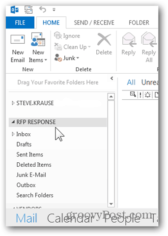 Add Mailbox Outlook 2013 - New Additional Mailbox Listed